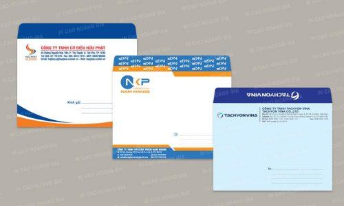 Thiết kế in ấn bao thư trung A5 16x24cm và 17x23cm đẹp giá tốt
